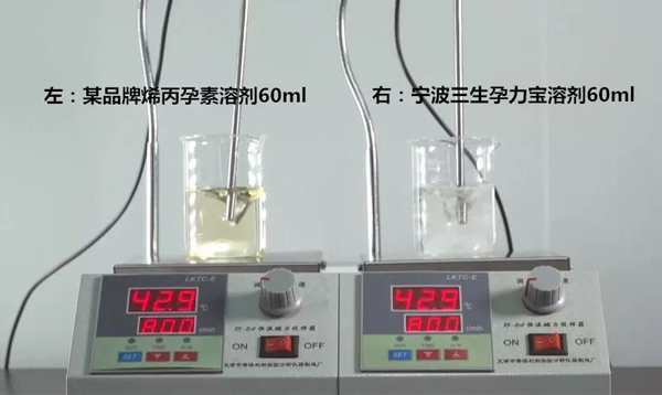 研究院 | 烯丙孕素溶剂对比实验,宁波三生用事实见真知