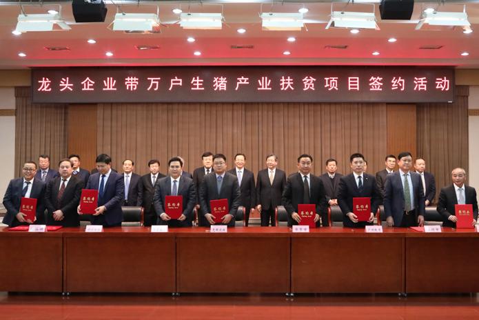 """农业农村部:""""龙头企业带万户生猪产业扶贫项目"""" 集中签约活动在京举行"""