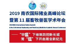 2019南农国际猪业高峰论坛暨第11届畜牧兽医学术年会